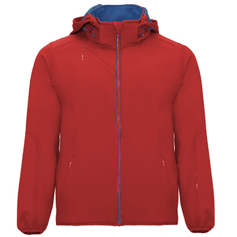Softshell OIR6428  - Rouge - Doublure Bleu royal
