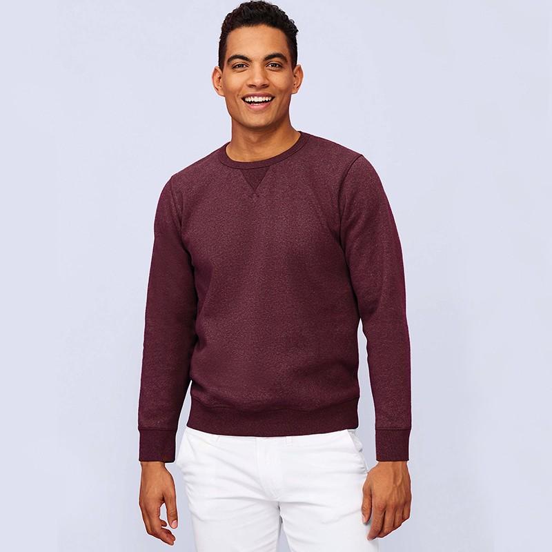 Sweat-shirt OIS02990 - Oxblood chiné